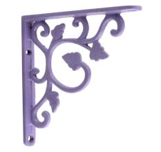SHELF BRACKETS GREY OR WHITE CHOICE OF SIZES LONDON PATTERN METAL FOR SHELVING