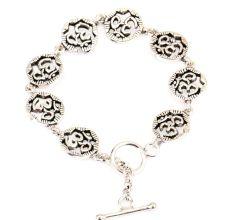 Om Charms 92.5 Sterling Silver Bracelet For good Luck
