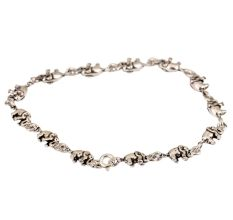 92.5 Sterling Silver Bracelet With silver Elephant Charms