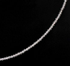 Round Transparent Crystal Bead Necklace In A Single Strand