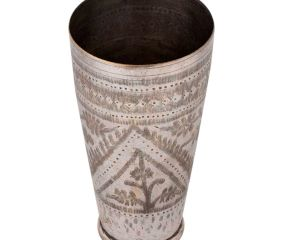 Traditionally Carved Punjabi Brass Lassi Glass Cup