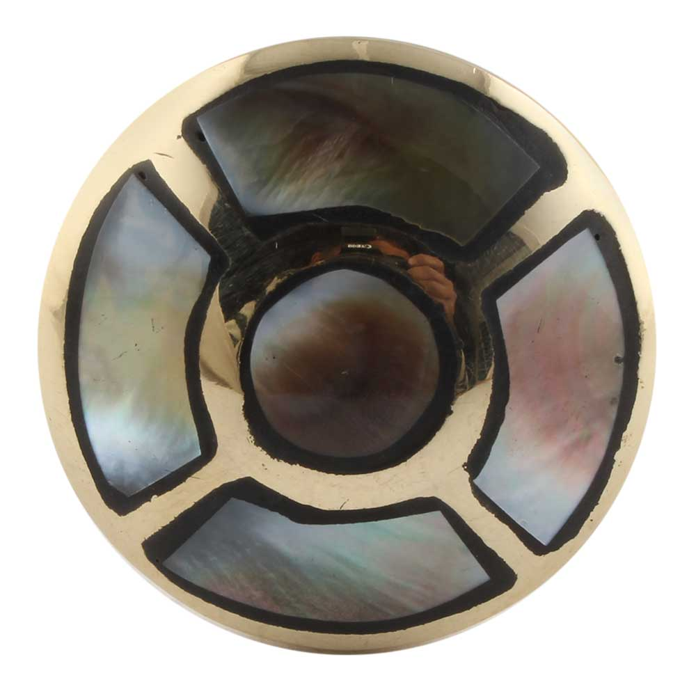 Black shell And Round Golden Brass Metal Cabinet Knobs