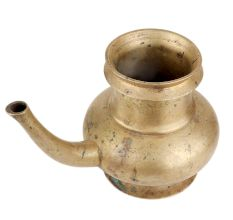 Brass Pot With a long Stout Pooja Jal Kamandal