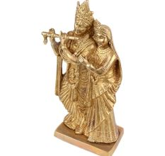 Golden Brass Radar Krishna Statue For Decoration