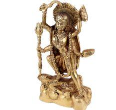 Brass Ma Kali Statue Indian Deity Handmade Statue