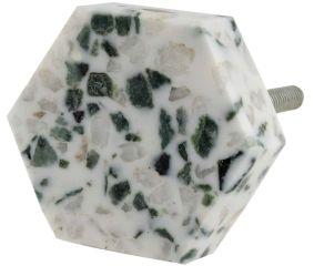 Terrazzo Marble Hexagon Cabinet Knobs