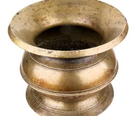 Traditional Brass Water pot With A wide Mouth and Robust centre