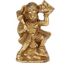 Brass Statue Of Lord Hanuman Lifting A mountain