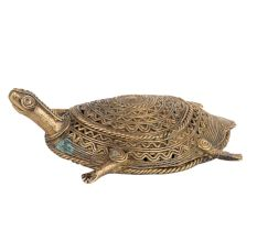 Brass Turtle Tribe Art Statue