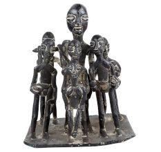 Brass Naga Tribal Family Statue Naga Art