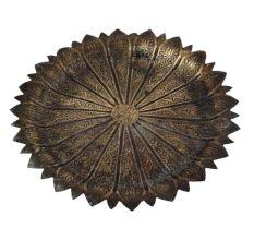 Brass Lotus Shape Worship Tray