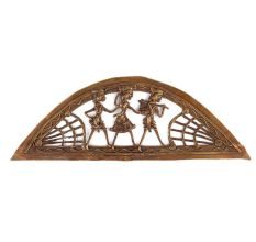 Brass Dhokra Art Wall Hanging Tribal Farmers Statues in Semi Circle