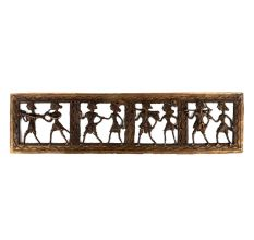 Brass Wall Decor Dhokra Folk Art With Tribal Figurines