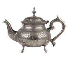 Brass  Kettle Tea Pot Silver Polish Victorian Style