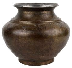 Elegant Brass Garden Pot
