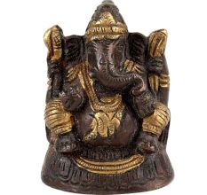 Brass Lord Ganesha Statue Worship Showpiece