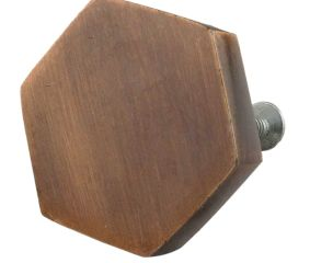 Metallic Brown Hexa Iron Cabinet Knob