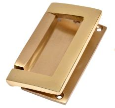 Golden Color  Brass Rectangular Flush Lift Handle Pull Knob