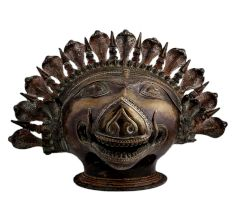 Brass Boar Head Statue Vishnu Avatar With Cobra Head Crown