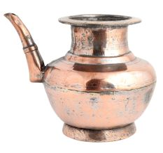 Copper Pot With Stout For Worship