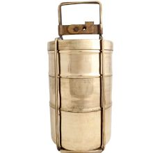 Golden Brass Three storage Tiffin Box Or Lunch Box