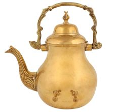 Golden Brass Kettle Or Artistic Tea Pot For Decoration