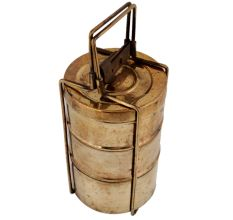 Three Brass Container For Decoration Showpiece