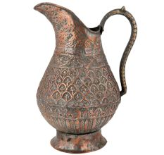 Carved  Copper Jug  Islamic Style For Decoration