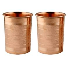 Copper Glasses Tableware In Pair