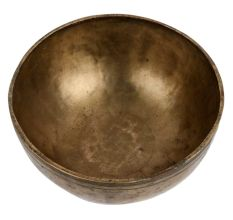 Golden Metal Singing Bowl Decorative Meditation Art