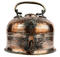 Copper Paan Daan Or Betel Nut Box Dome Shape