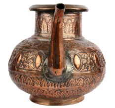 Hand Made Copper Ornate Water Pot