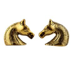 Two Horses Facing Metal Cabinet Knobs