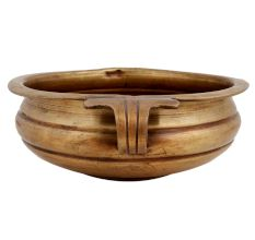 Brass Urli With Side Handles Home Decoration Bowl