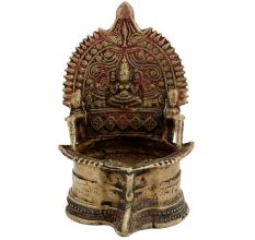Spiritual Temple Brass Oil Lamp
