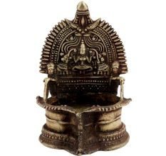 Brass Kamakshi Laxmi Oil Lamp Worship Lamp