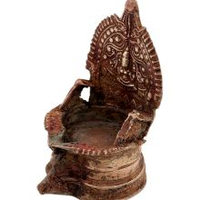 Brass South Indian Gajalaxmi Motif Brass Oil Lamp