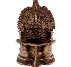 Golden Lakshmi Diya Brass Oil Lamp