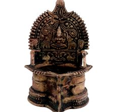 Brass kamatchi Goddess Laxmi Oil Lamp