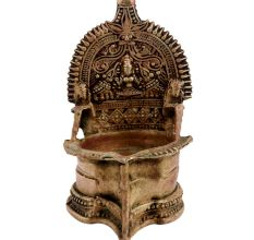 South Indian Astalakshmi Jumbo Vilakku Brass Oil Lamp