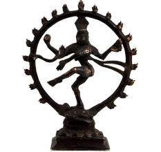 Brass Shiva Dancing Natraj Decorative Structure
