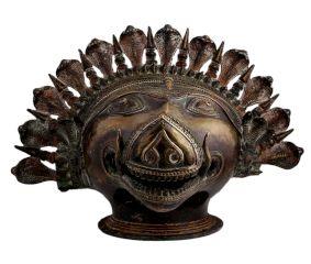 Brass Boar Head Statue Vishnu Avatar With Cobra Head Crown