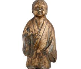 Brass Jizo Buddha  Statue For Complete Enlightenment