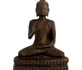Brass Buddha Statue Sitting Blessing Hand