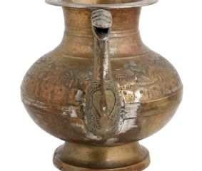 Brass Water Pot With Stout Worship Vintage Collection