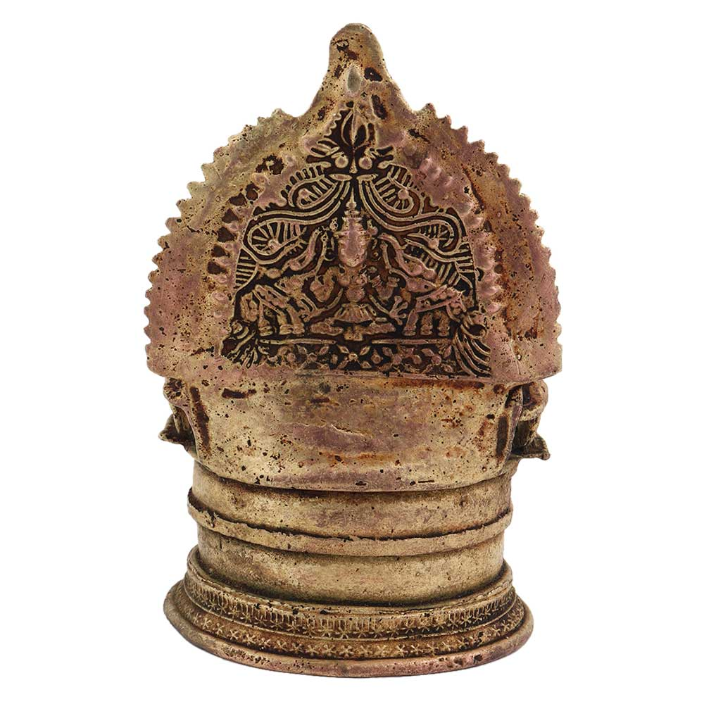 Traditional Brass Oil Lamp with Lakshmi
