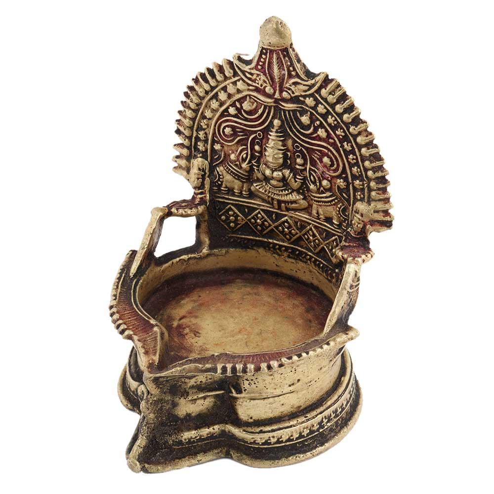 Brass Ashta Lakshmi Oil Lamp Diya