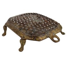 Small Brass Vegetable grater Octagonal Shape and four Legs