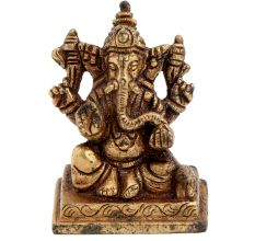 Brass Sitting Bhagvan Ganesh Idol