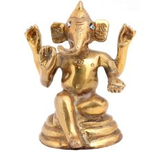 Brass Bhagwan Ganesha Statue With Long Ears